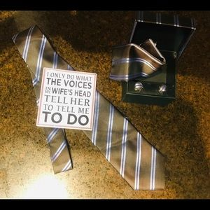 Other - New Mens Boxed Matching Tie, Hanky, Cuff Links